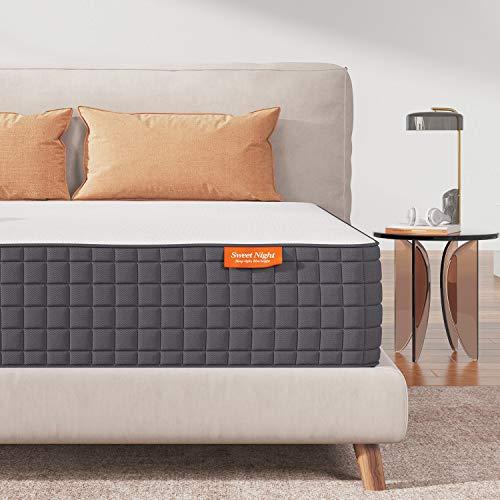 Sweetnight King Mattress, 10 Inch King Size Mattress in a Box, Gel Memory Foam Bed Mattress for Cool Sleep and Pressure Relief, Medium Firm Foam Mattress…