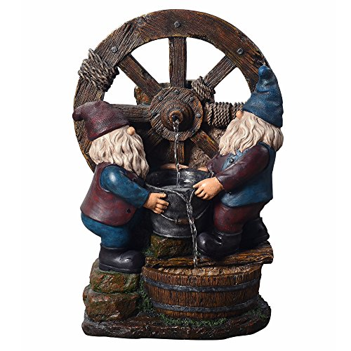 Peaktop Outdoor Little Gnome Friends Fountain