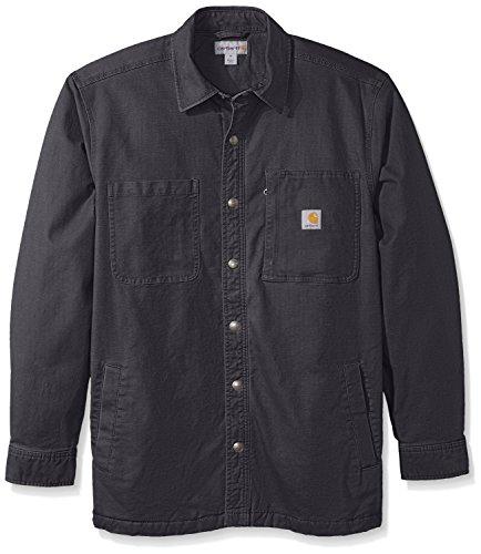 Carhartt Men's Rugged Flex Rigby Shirt Jacket, Shadow, Medium