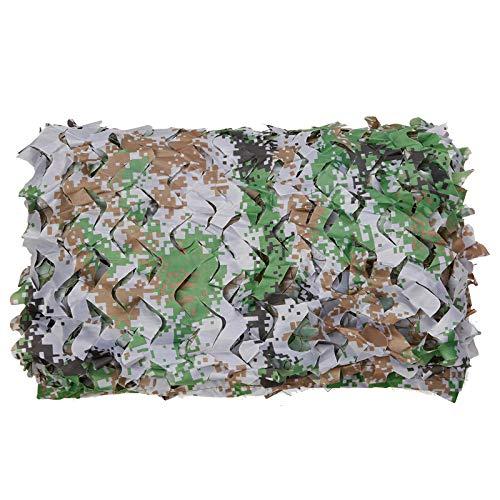 Shade Cloth camouflagennet voor kinderen, zonnewering, zonnezeil, camouflagepatroon, ideaal voor rolgordijnen, jacht, fotografie, themahotel, podiumbekleding LDFZ 2 * 6m Camouflage