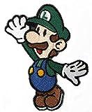 Parche bordado con diseño de Luigi para disfraz de Mario Kart, Snes, Mario World, Super Mario Brothers y Mario Allstars