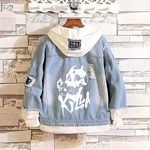 pZgfg Hoodie Jacket Anime JoJo's Bizarre Adventure Cosplay jas van Jeans Primavera Autunno Jeans sweatshirt met capuchon voor dames en heren