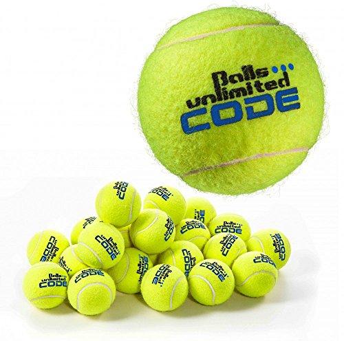 Balls ... unlimited Code Blue Tennisball, Drucklose Trainingsbälle - 60er Beutel