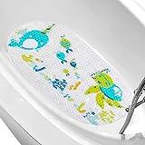 LEJHOME Bath Tub Mat, 27.5'x 15' Non-Slip Cartoon Shower Mats Kid Mats with Suction Cups, Baby Bathtub Mats Bathroom Mats Machine Washable Soft