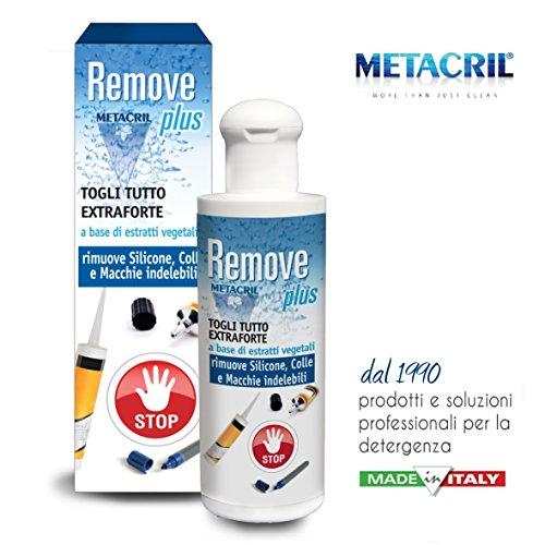 SCIOGLI MACCHIA, colla, residui di adesivi o silicone, inchiostro indelebile, a base VEGETALE - Remove Plus 200ML - Spedizione IMMEDIATA