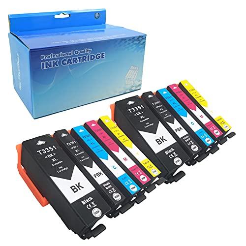 Teng 10X 33XL Cartuchos de Tinta Reemplazo para Epson 33 33XL 33 XL Compatible con Epson Expression Premium XP-7100 XP-530 XP-540 XP-630 XP-635 XP-640 XP-645 XP-830 XP-900