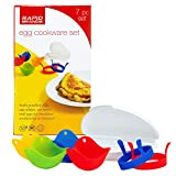 Rapid Brands 7-Piece Microwave Poached Egg & Omelette Cookware Set | Perfect for Dorm, Small Kitchen, or Office | Dishwasher-Safe, Microwaveable, BPA-Free