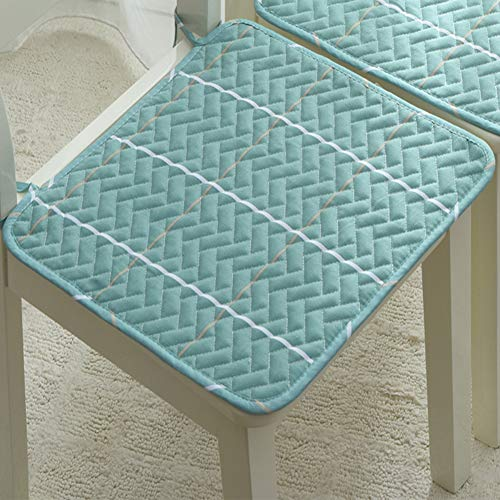 XiXiBoom Square Chair Seat Cushion Cotton Linen Thin Section Dining Chair Cushion With Ties Anti Slip Washable Chair Pad Mat For Office Chair Dining Chair