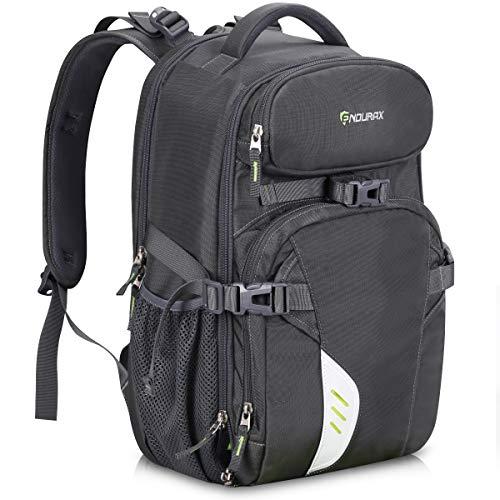 Tubus Videokamera-Rucksack für 2 DSLR/SLR-Kameras, 3-5 Objektive, 15,6 Zoll Laptop für Outdoor-Reisen grau grau