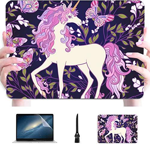 Review MacBook A1466 Case Hand Drawn Beautiful Rainbow Unicorn Plastic Hard Shell Compatible Mac Air...