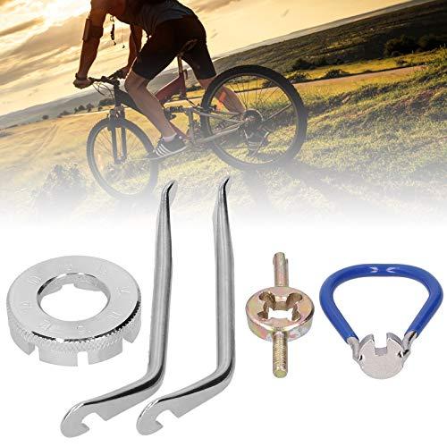 Gedourain Llave de radios para Montar, Palanca de neumáticos fiable para la reparación de Bicicletas