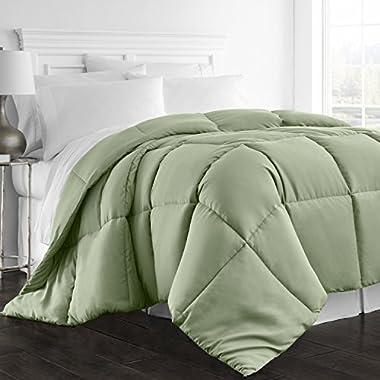 Beckham Hotel Collection 1300 Series - All Season - Luxury Goose Down Alternative Comforter - Hypoallergenic -Twin/Twin XL - Sage