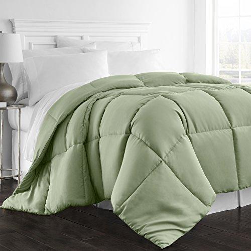 Beckham Hotel Collection 1300 Series - All Season - Luxury Goose Down Alternative Comforter - Queen/Full - Sage