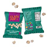 Cajun Pop Gourmet Popcorn Snack Packs – Flavored Popcorn Packs Already Popped Single Serve Bags Without Kernels, Movie Night Sweet Snacks – New Orleans Beignet – 24 Individual Bags, 3oz
