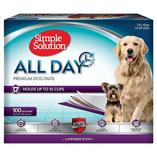 Simple Solution 6-Layer All Day Premium Dog Pads | Lavender Scent | 23 x 24 100 pads