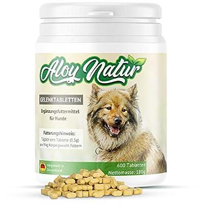 ALOY NATUR® Gelenktabletten für Hunde - 600 Tabletten (180g) - mit hohem Grünlippmuschel Anteil, Teufelskralle, MSM, Ingwer - stärkt die Gelenkfunktion - Futterergänzungsmittel für Ihren Hund