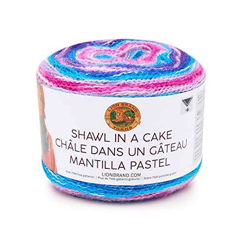 Lion Brand Yarn Shawl in a Cake Yarn, Half Moon