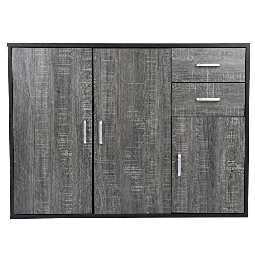 Estink Aparador moderno, aparador de almacenamiento, cómoda para el hogar, muebles de sala de estar, muebles de almacenamiento para la cocina, 100 x 33,8 x 74,5 cm.
