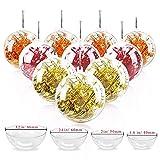 Jangostor 20 Piezas Bolas de Navidad, 40 mm, 50 mm, 60 mm, 80 mm Bola de Adornos navideños, Decoraciones de Navidad rellenables de plástico DIY Bolas de árbol Bolas artesanales Bola Transparente