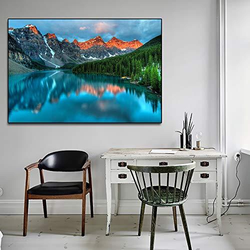 Nordic Landschaft erstaunliche attraktion See wandkunst leinwand malerei Dekoration für zu Hause ölgemälde wandmalerei rahmenlose 70x105 cm