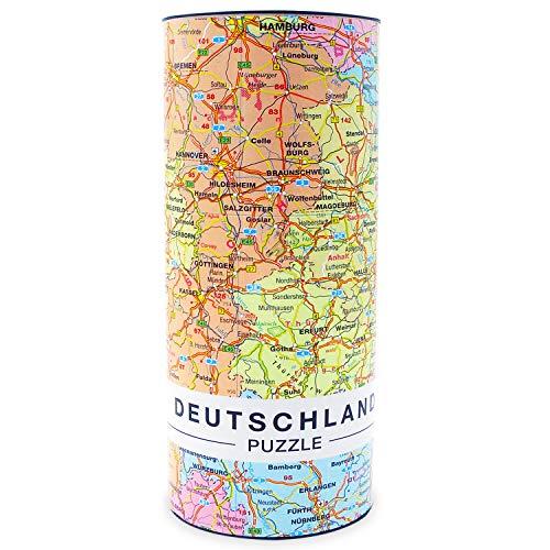 Premium Deutschlandkarte Puzzle mit 1000 Teilen - Deutschland Puzzle Länderpuzzle Erwachsenenpuzzle 66 x 45 cm