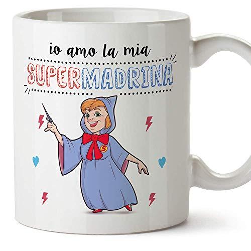 Mugffins Madrina Tazza/Mug - Io Amo la Mia Super Madrina - Idea Regalo Giorno di Pasqua/Battesimo - Tazza Migliore Madrina in Ceramica. 350 ml