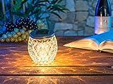 Lunartec Solar Licht: Solar-LED-Windlicht aus Glas, mit tollem Lichtmuster, IP44, Ø 10 cm (Deko-Solarlampen) - 7