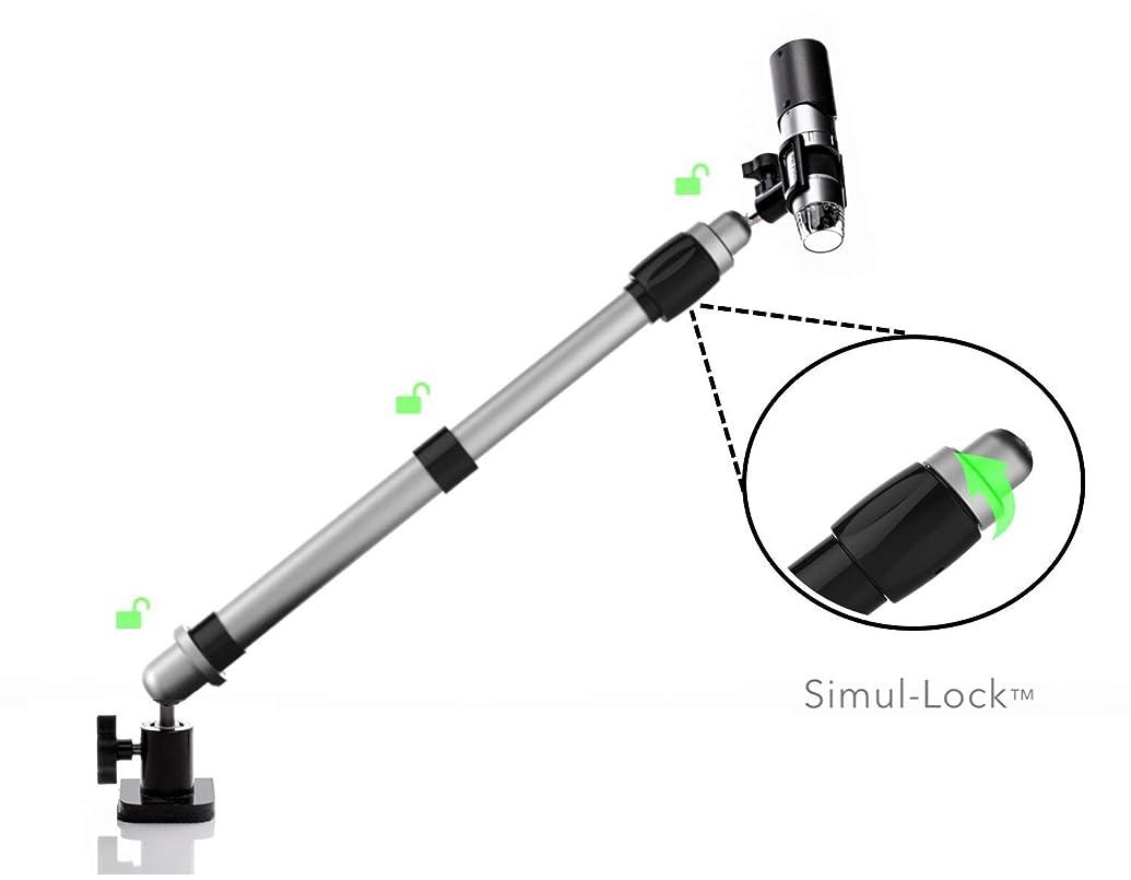 傾くスーダン応じるCクランプベースを備えたDino Lite顕微鏡用に設計された万能なポジショニングアーム。