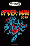Notebook: Marvel Spider-Man 2099 Retro Jump Logo , Wide ruled 100 Pages Bank Lined Paperback Journal/ Composition Notebook