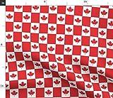 Kanada, Kanadische Flagge, Flagge, Rot Und Weiß, Ahornblatt, Stoffe - Persönlich Bedruckt von Spoonflower - Design von Shandubdesigns Gedruckt auf Baumwollstoff Klassik