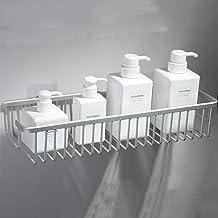 Gratis ponsen badkamer pyloon, vierkant opbergrek, afvoerrek, verdiep het muurhangende keukenrek voor de vierkante mand, 4...