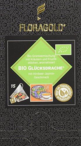 FLORAGOLD Pyramidenbeutel grüner Tee Bio Glücksdrache, 1er Pack (1 x 45 g)