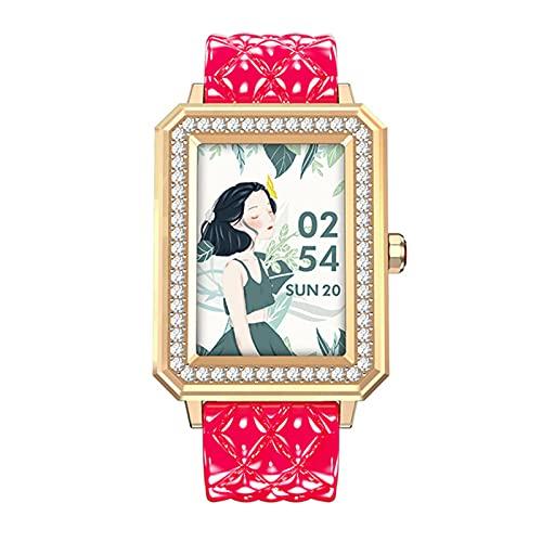 shjjyp Mujer Smartwatch con PulsóMetro/CardíAco/SueñO Monitoreo Impermeable Control De MúSica PodóMetro CaloríA GPS CronóMetro Y Relojes con Despertador para Xiaomi iPhone Smartwatch Mujer,B