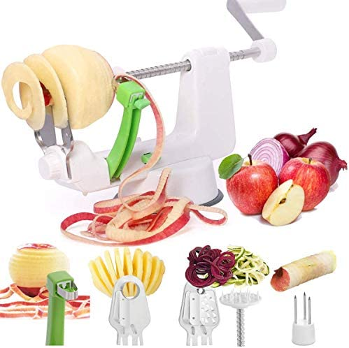 LHS Apple Peeler Vegetable Spiralizer Vegetable Spiral Slicer 4 in1 Multifunctional Peel Core product image