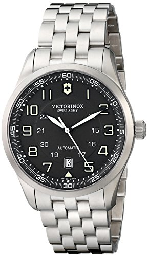 Victorinox Swiss Army AirBoss Automatic Black Dial Mens Watch 241508: Watches