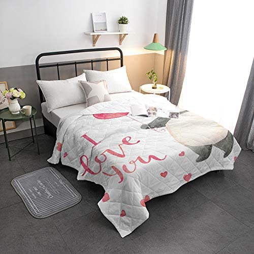 Arts Language Cool Summer Bedspread Quilt Panda Love I Luxury goods All-S You We OFFer at cheap prices
