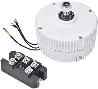 Motor Eléctrico de Imán Permanente de 24 V 400 W, Alternador Síncrono Trifásico Generador de Motor Eléctrico de Imán Permanente NE-400 DIY para Turbina Eólica(Motor + Rectifier)