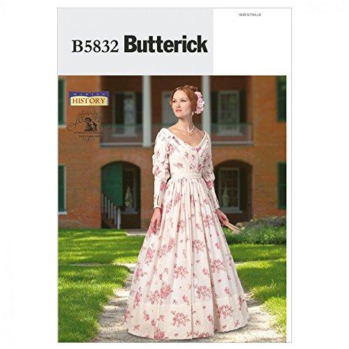 Butterick Schnittmuster 5832–Historisches Kostüm Kleid