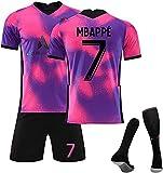 SXMY Soccer Jersey Men Mbappé Di Jerseys Paris 2020/21 Camiseta Pantalones Cortos, Chándal De Fútbol Trajes De Fútbol, Fan Jersey Regalo(Size:28)