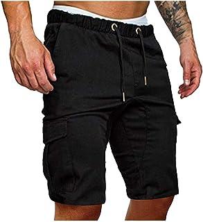 Homme Bermuda Sport Ete Pas Cher,Short Multipoches Fashion Pantalon Court Jogging Chic Confortable Baggy Cordon De Serrage...