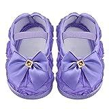 delibett Zapatos De Bebe Primeros Pasos Algodón Zapatos para Bebe Niña Calcetín Primavera, Verano Y Otoño, Soft Sole Zapatos De Babe Mariposa para Niños De 0-1 Años