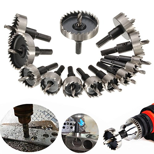 DRILLPRO 13Pcs Hole Saw Kit, HSS Drill Bit Hole Saw Bit Set for...