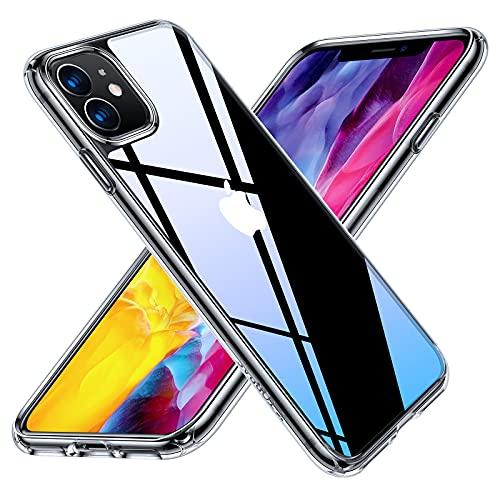 【2021新版・強化ガラス】TORRAS iPhone 11 用 ケース 薄型軽量 日本旭硝子9H 黄変防止 TPUバンパー 超耐衝撃 米軍MIL規格 SGS認証 2021年新型 6.1インチ アイフォン 11 用カバー クリア