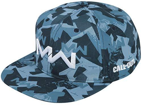 CALL OF DUTY MODERN WARFARE - Cappello Visiera Piatta Blu Regolabile Cotone con Patch Logo in Stoffa (Snapback Cap)