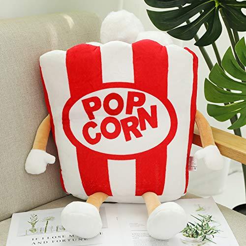 DMAIP Cuscino Morbido per Popcorn con Pizza, Patatine Fritte, Hamburger, Fast Food, Cartone Animato per Bambini
