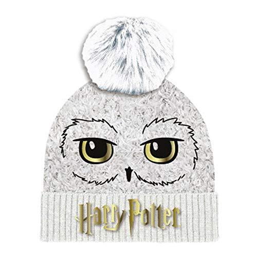 Harry Potter Unisex Hedwig Beanie-Mtze, weiß, One Size