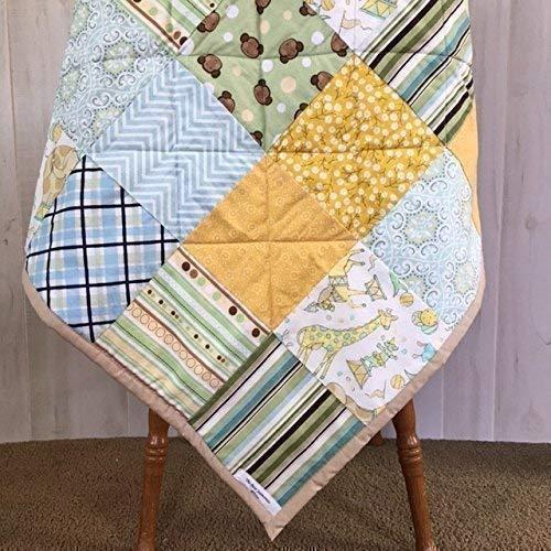 Baby Quilt for Gender Neutral Newborn Shower Present