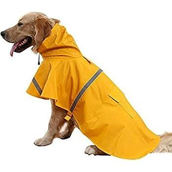 Resistente al agua perros protección contra la lluvia con capucha sin transparente