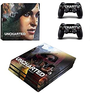 Skin Sticker - PS4 Pro Skin Sticker Vinyl Decal Cover for Sony Playstation 4 Console&Controllers - Uncharted The Lost Legacy for PS4 Slim Skin, PS4 Pro Skin, Ps4 Skin Sticker A257