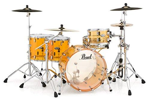 Pearl Crystal Beat CRB503P/C732Paquete de carcasa de 3piezas para batería, Rock, Tangerine Glass, inch